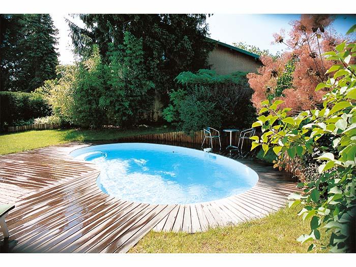 бассейн с закруглением для дома