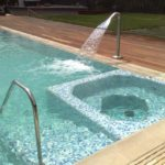 тест водопада для бассейна
