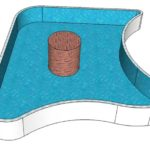 проект бассейна с изгибом