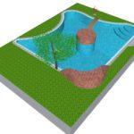 бассейна с изгибом